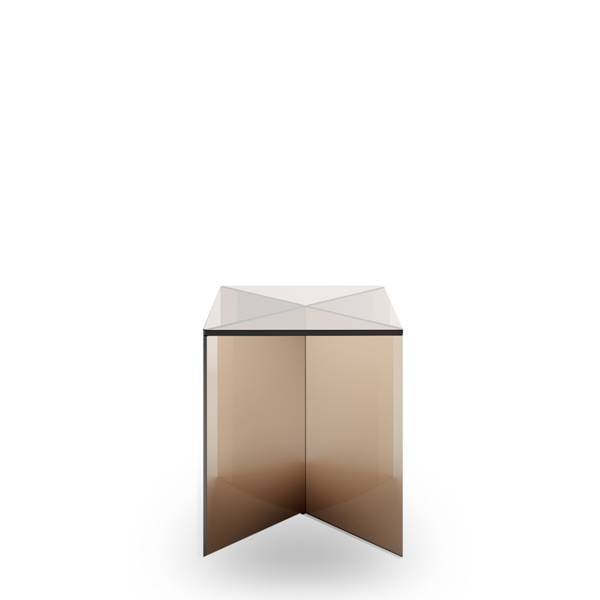 Lift X Totem - Side Table - Short with Bronze Glass