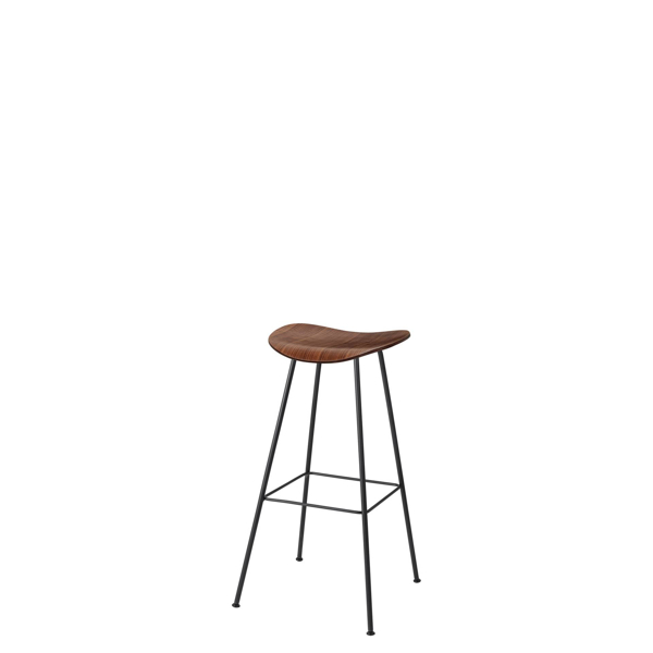 2D Counter Bar Stool - Un-Upholstered Center Base - American Walnut