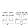 Diagram - 2D Counter Bar Stool - Un-Upholstered Center Base