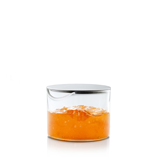 Basic Glass Condiment Server with Stainless Steel Lid