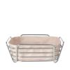 Delara Wire Serving Basket Square - Large Rose Dust