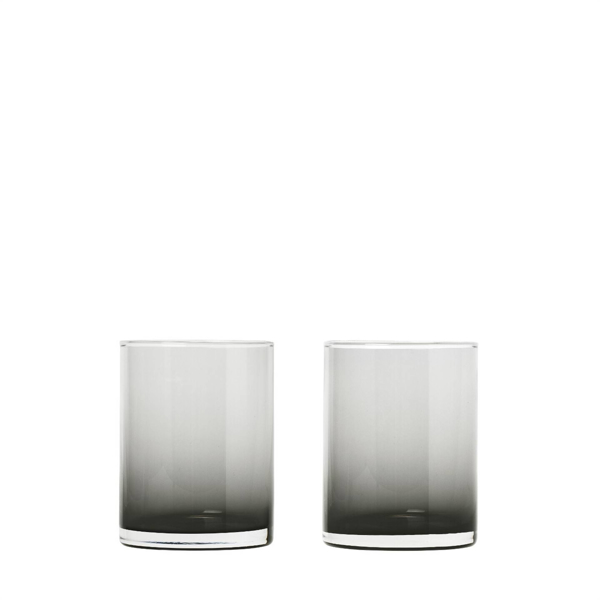 Mera Tumbler Glasses Tall Set of 2 - Smoked