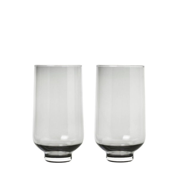 Flow Glasses 14 Ounce - Set of 2 - Smoked