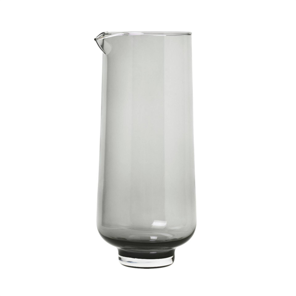 Flow Glass Pitcher 37 Oz 1.1 Liters - Smoked