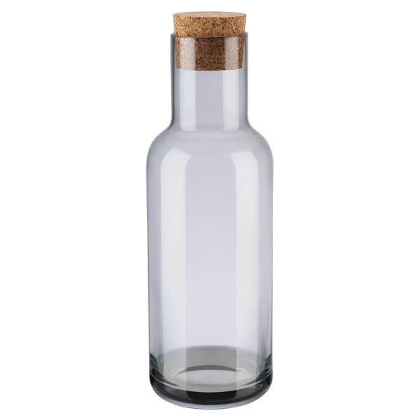 Fuum Water Carafe with Cork Lid - Smoke