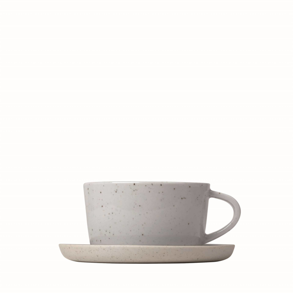 Sablo Ceramic Stoneware Coffee Cups And Saucers Set of 2
