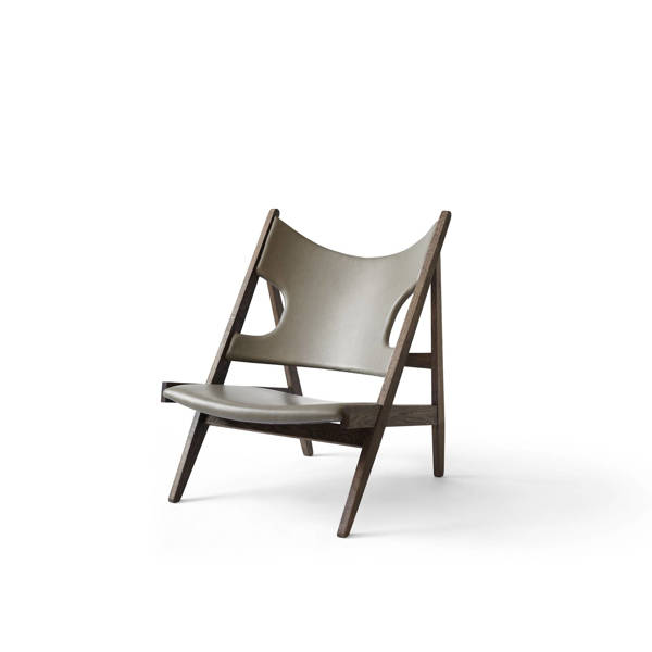 Knitting Chair Leather - Dark Stained Oak/Antilop