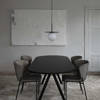 Saw Wood Dining Table Rounded