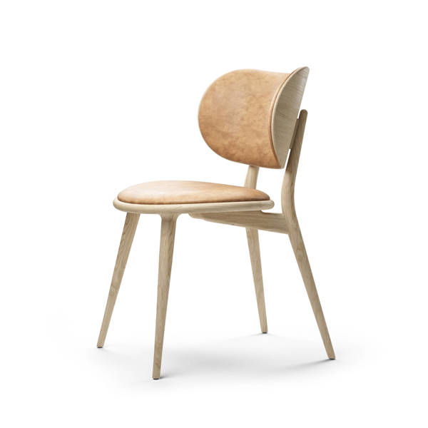 The Dining Chair - Matt Lacquered Oak - Natural Tanned Leather Seat