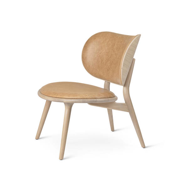 The Lounge Chair - Matt Lacquered Oak - Natural Tanned Leather Seat